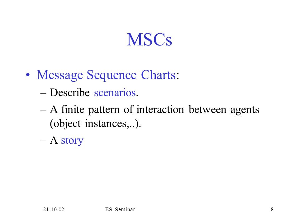 21.10.02ES Seminar9 Message Sequence Charts rq U1R rq y n U2