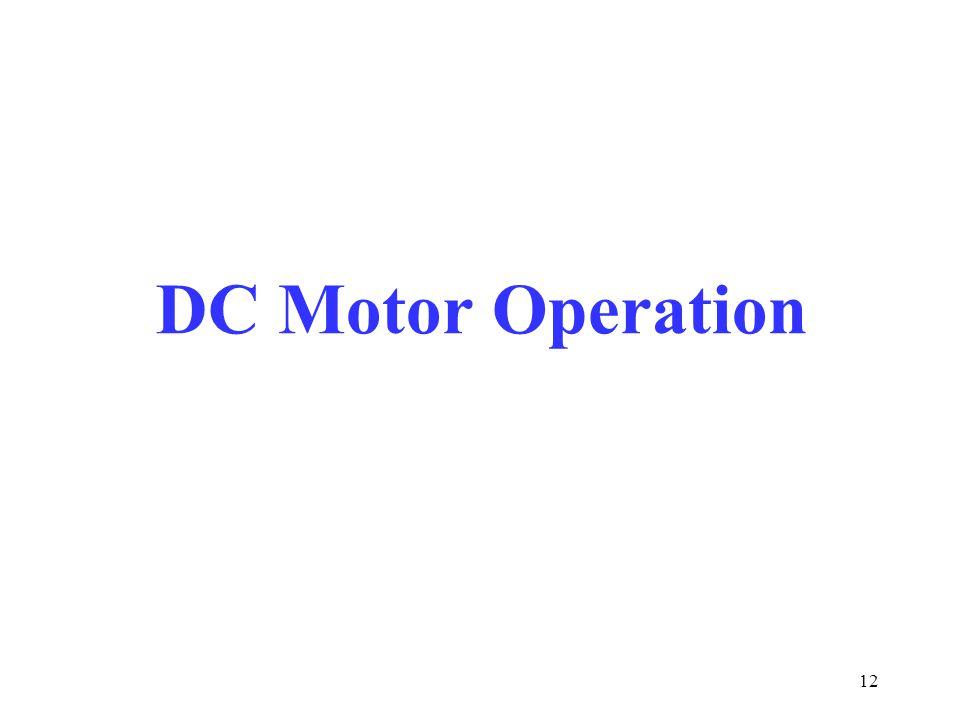12 DC Motor Operation