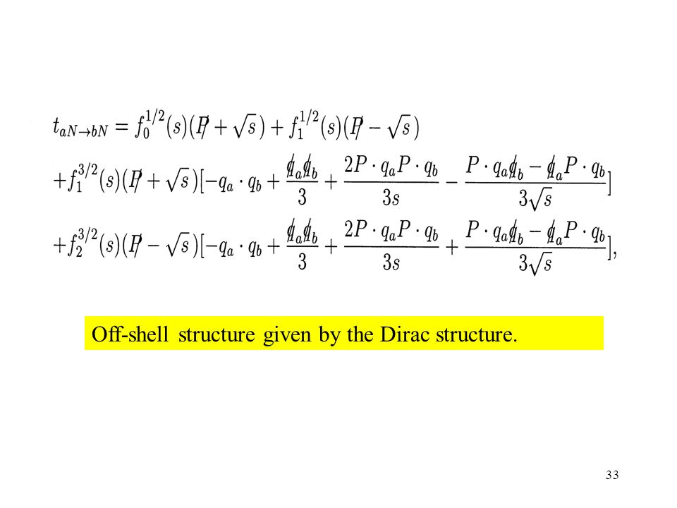 33 Off-shell structure given by the Dirac structure.