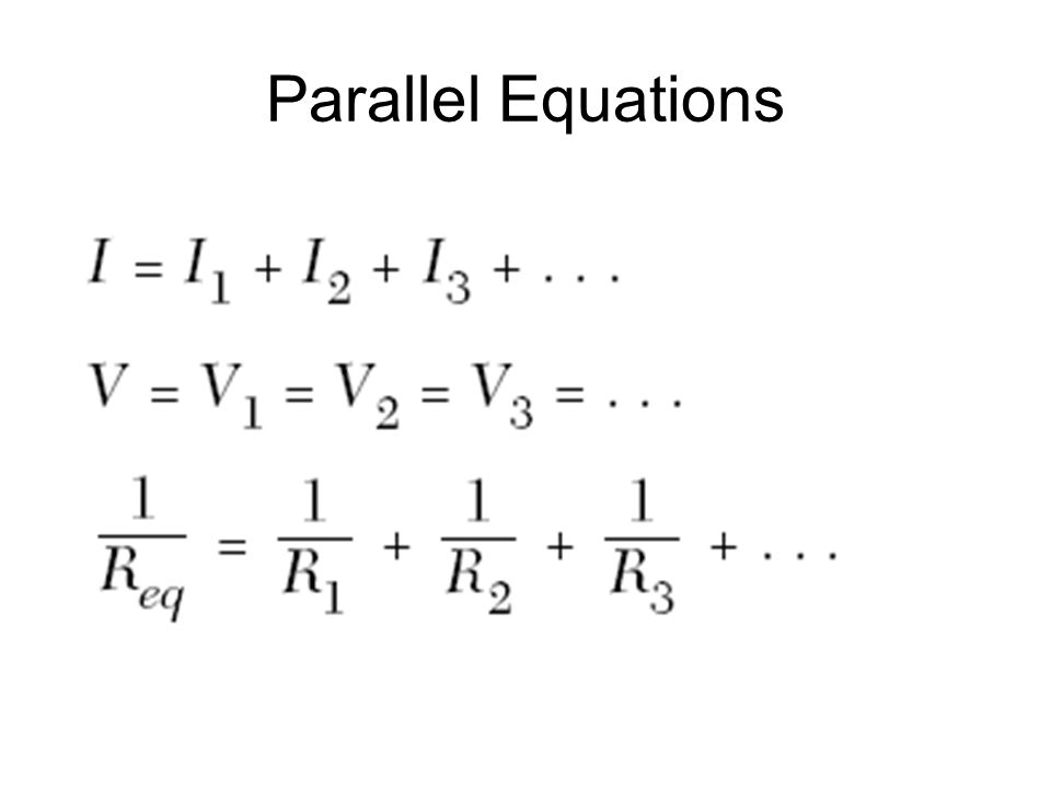 Parallel Equations