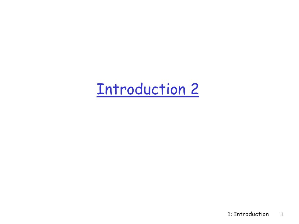 1: Introduction12 Network Core: Packet Switching each end-end data stream divided into packets r user A, B packets share network resources r each packet uses full link bandwidth r resources used as needed, resource contention: r aggregate resource demand can exceed amount available r congestion: packets queue, wait for link use r store and forward: packets move one hop at a time m transmit over link m wait turn at next link Bandwidth division into pieces Dedicated allocation Resource reservation