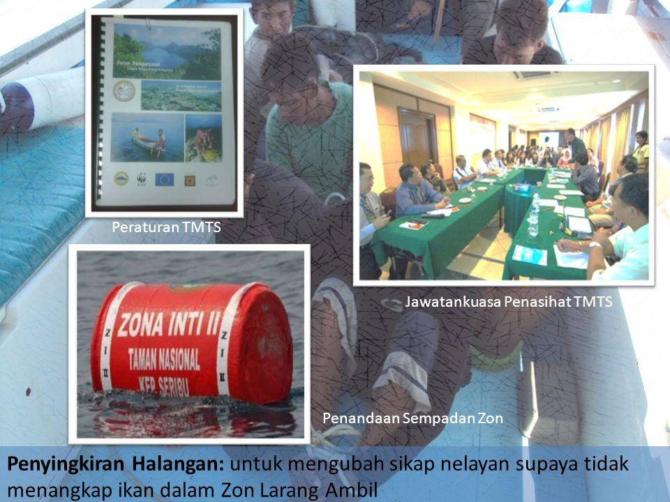 Penyingkiran Halangan: untuk mengubah sikap nelayan supaya tidak menangkap ikan dalam Zon Larang Ambil Peraturan TMTS Jawatankuasa Penasihat TMTS Pena