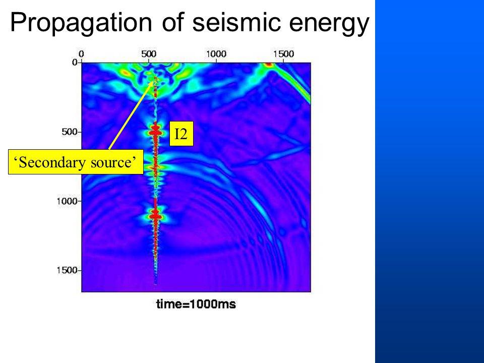 'Secondary source' I2 Propagation of seismic energy