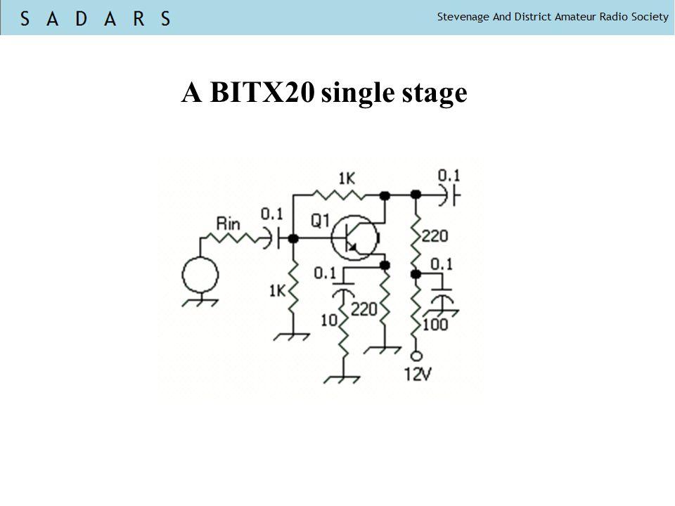 A BITX20 single stage