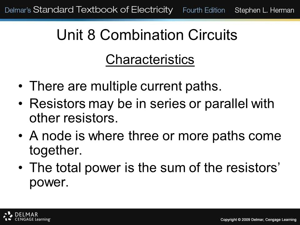 Unit 8 Combination Circuits Solving Combination Circuits Expand the circuit back to the original circuit.