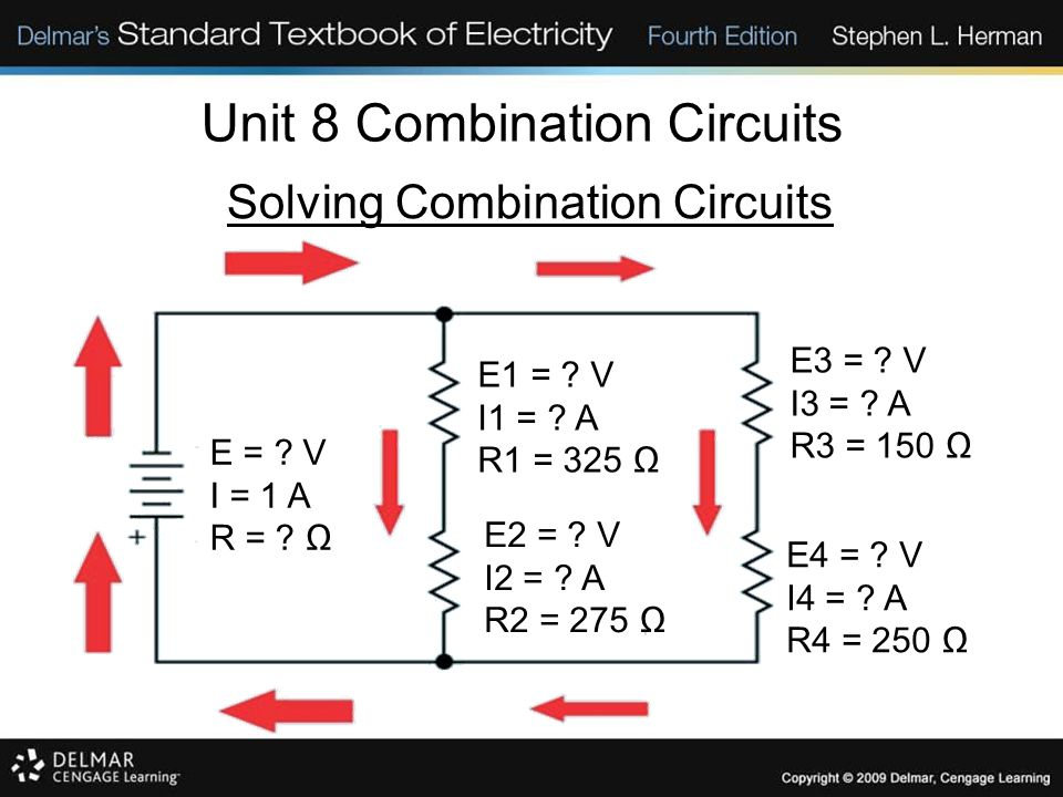 Unit 8 Combination Circuits Review: 1.The three rules for series circuits are: a.The current is the same at any point in the circuit.