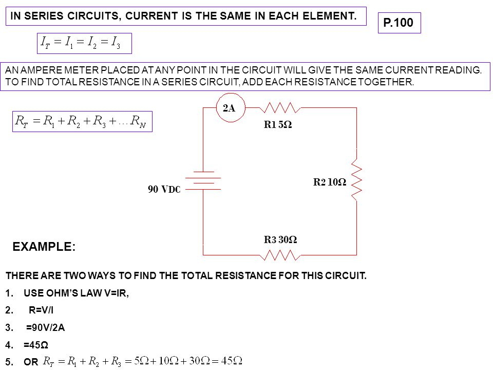 VOLTAGE IN SERIES CIRCUITS VOLTAGE IS DIVIDED UP ACROSS EACH LOAD.