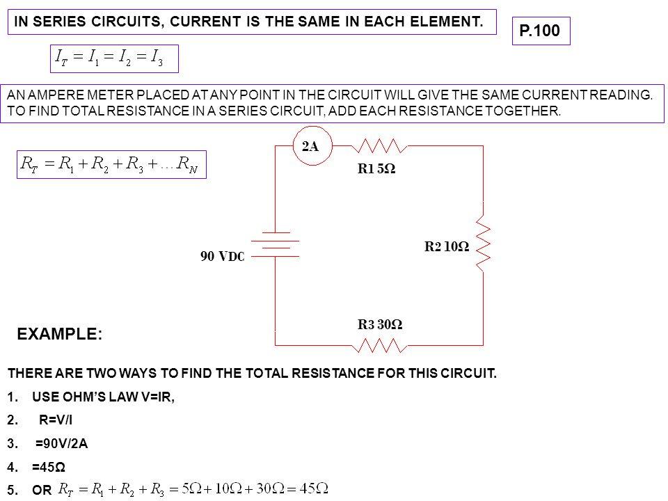 USEFUL FORMULA'S FOR SERIES CIRCUITS I T =I 1 =I 2 …..=In V T =V 1 +V 2 …..+Vn R T =R 1 +R 2 …..+Rn P T =P 1 +P 2 ……+Pn VOLTAGE DIVIDER EQ.