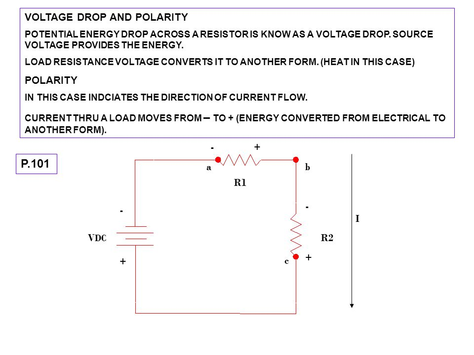 MEASURING SERIES VOLTAGE.F.5-7 P-102 CHOOSE CORRECT FUNCTION, RANGE AND POLARITY ON THE METER.