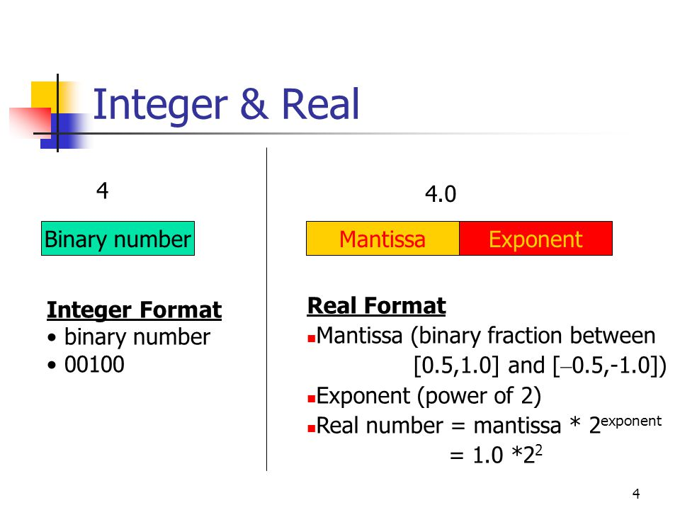 3 Why need both Integer & Real.