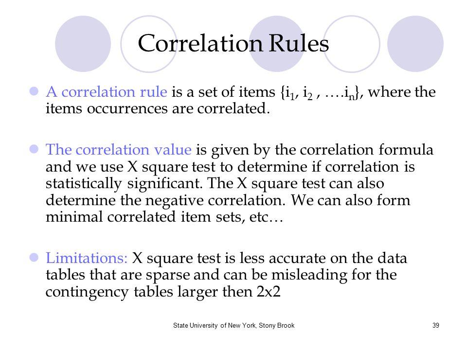 State University of New York, Stony Brook40 Summary Association Rule Mining  Finding interesting association or correlation relationships.