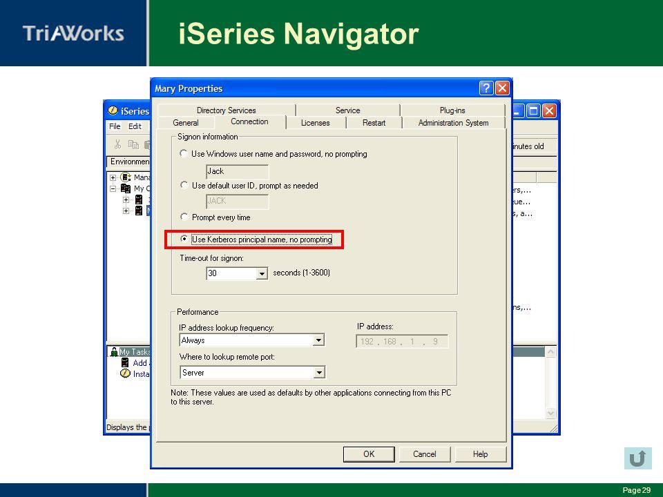 Page 29 iSeries Navigator