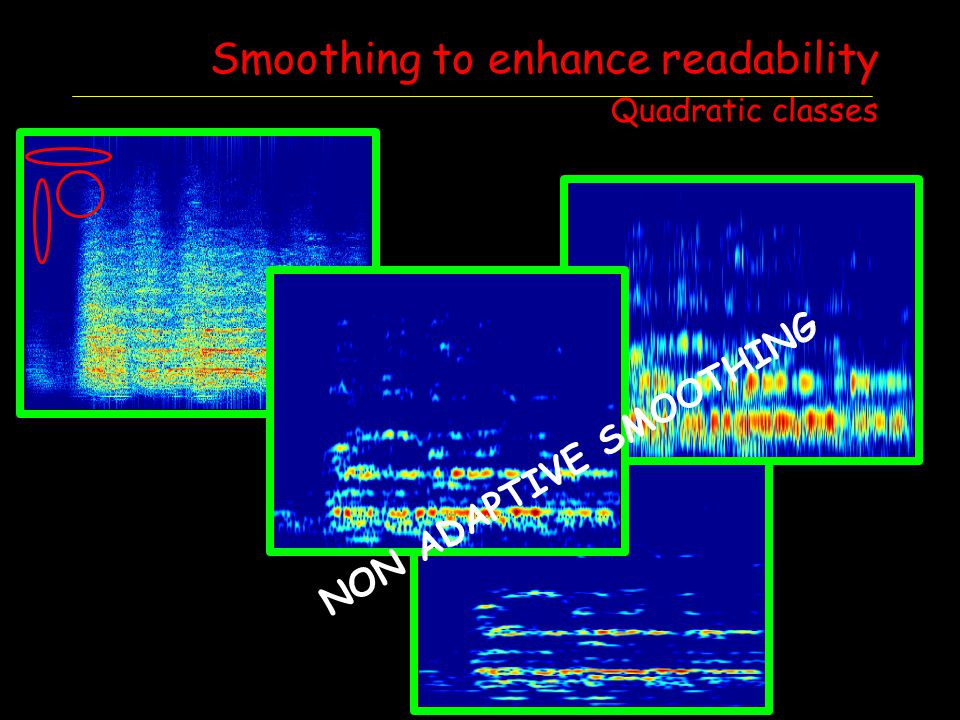 Smoothing to enhance readability Quadratic classes NON ADAPTIVE SMOOTHING