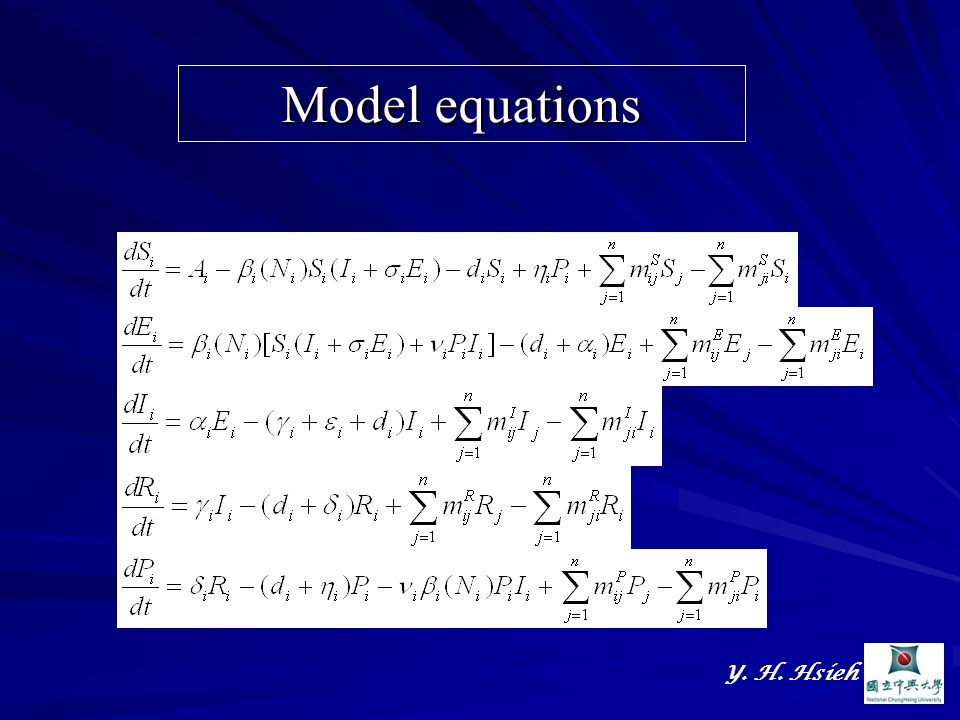 Y. H. Hsieh Model equations