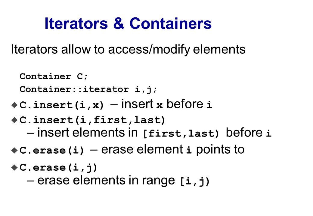 Iterators and Assoc.