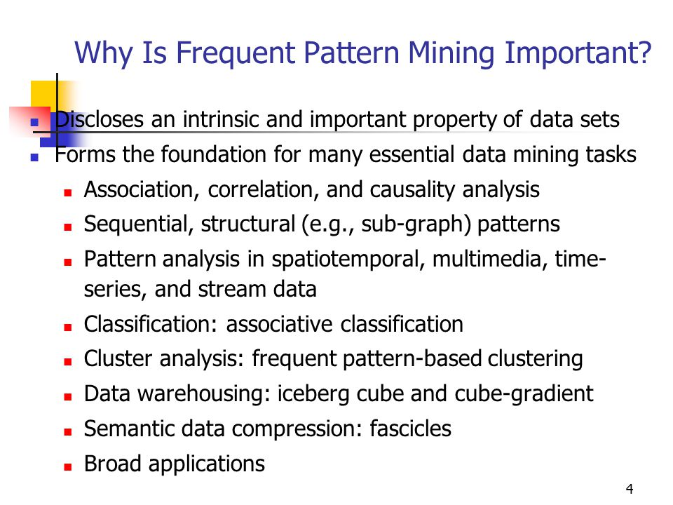 4 Why Is Frequent Pattern Mining Important.