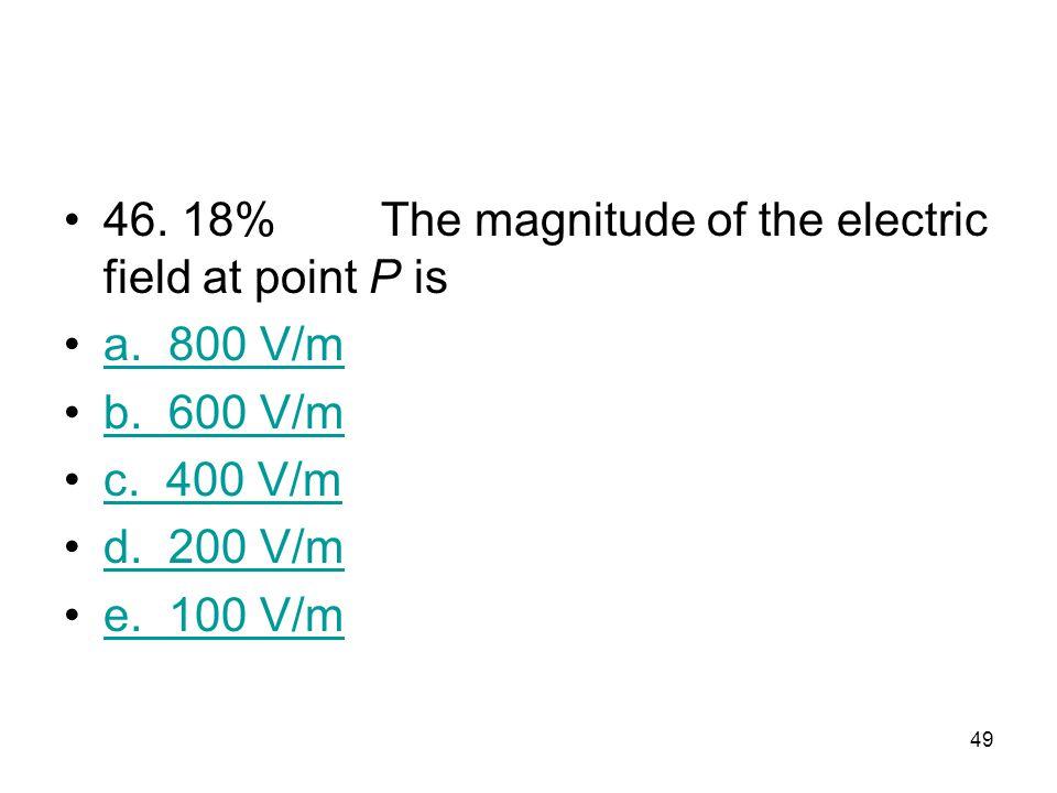 48 45. 45%The electric potential at point P is a. 10 V b. 8 V c. 6 V d. 4 V4 V e. 2 V