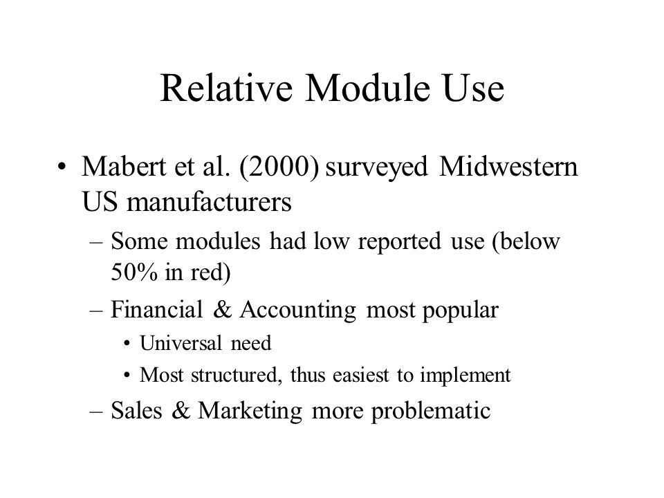 Relative Module Use Mabert et al.