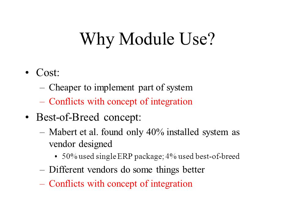 Why Module Use.