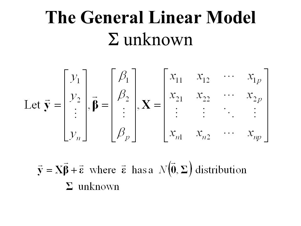 The General Linear Model  unknown