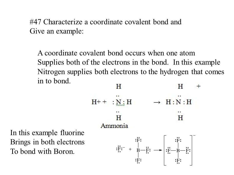 Related Keywords Suggestions For Coordinate Covalent Bond