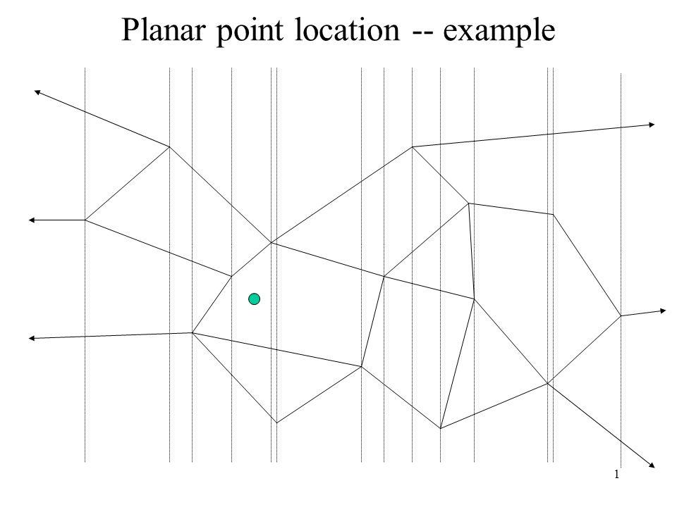 1 Planar point location -- example