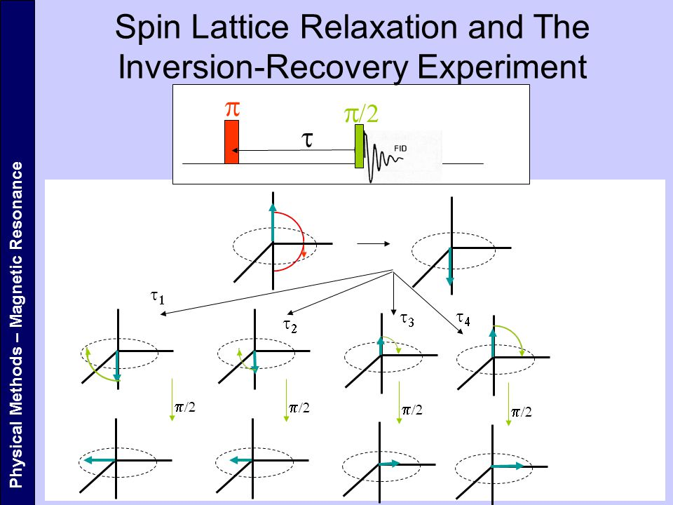    Physical Methods – Magnetic Resonance Spin Lattice Relaxation and The Inversion-Recovery Experiment     