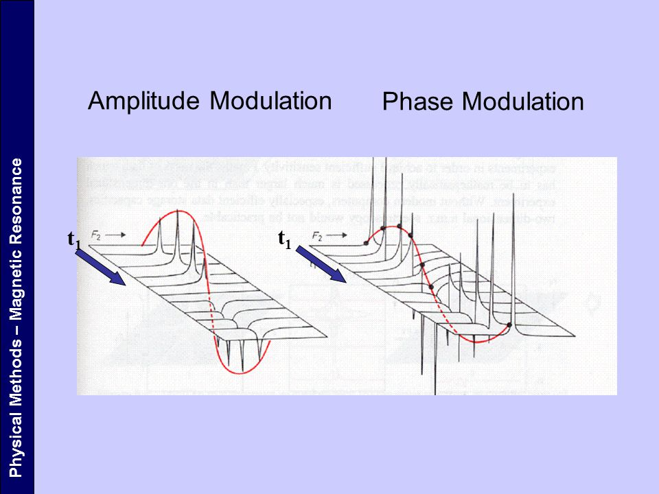 Physical Methods – Magnetic Resonance Amplitude Modulation Phase Modulation t1t1 t1t1