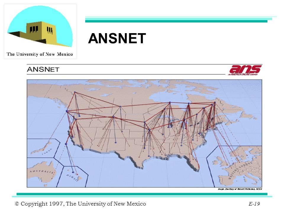 © Copyright 1997, The University of New Mexico E-19 ANSNET