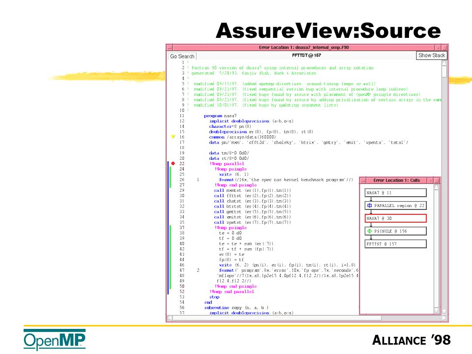 A LLIANCE '98 AssureView:Source
