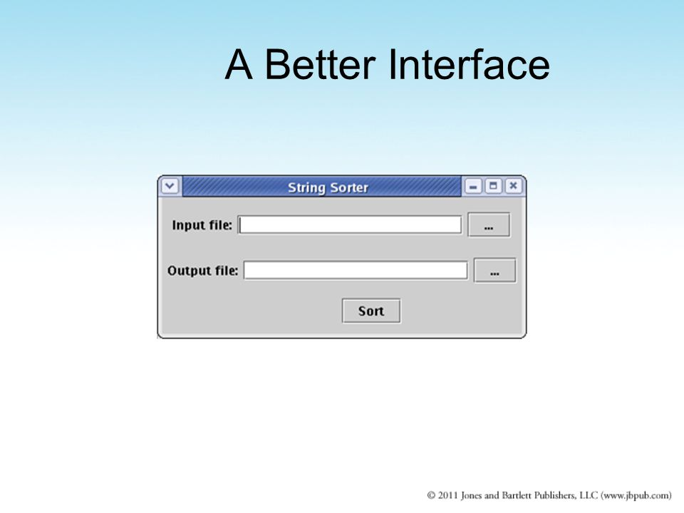 A Better Interface