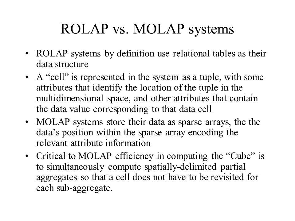 ROLAP vs.