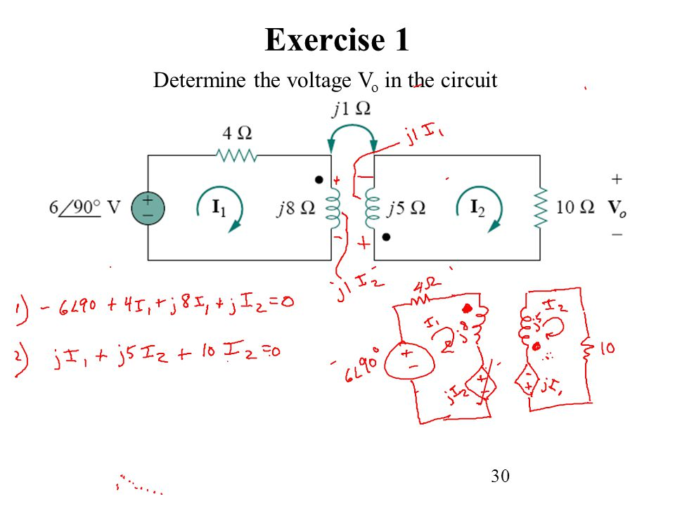 30 Exercise 1 Determine the voltage V o in the circuit