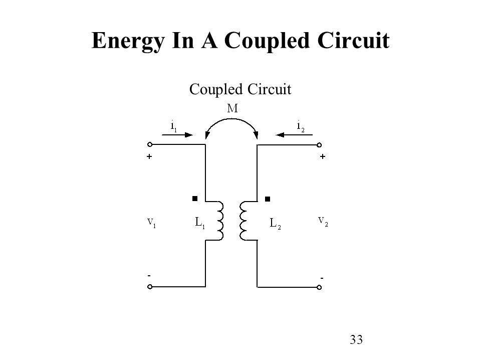 33 Coupled Circuit Energy In A Coupled Circuit