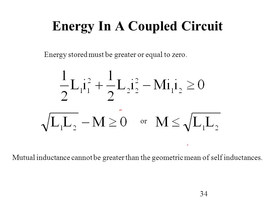 34 Energy stored must be greater or equal to zero.