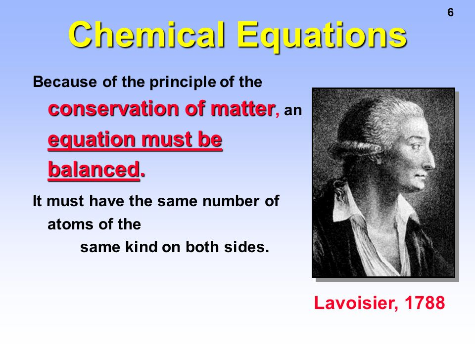 7 Balancing Equations