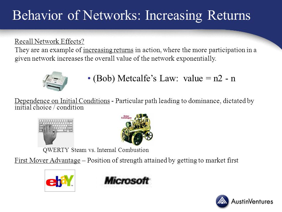 Recall Network Effects.