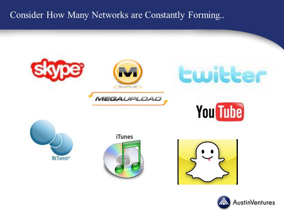 Consider How Many Networks are Constantly Forming..