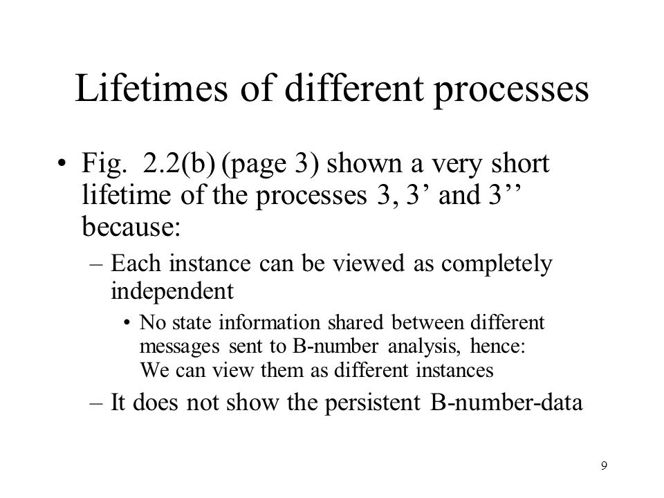 9 Lifetimes of different processes Fig.