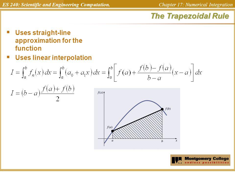 ES 240: Scientific and Engineering Computation. Chapter 17: Numerical IntegrationLab  Ex 17.3