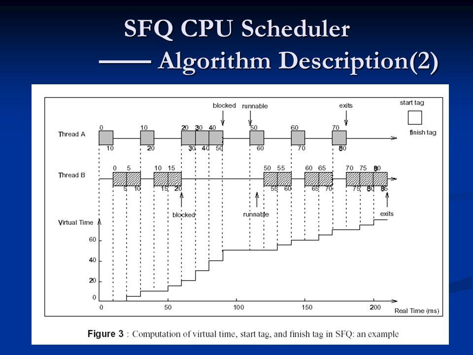 SFQ CPU Scheduler —— Algorithm Description(2)