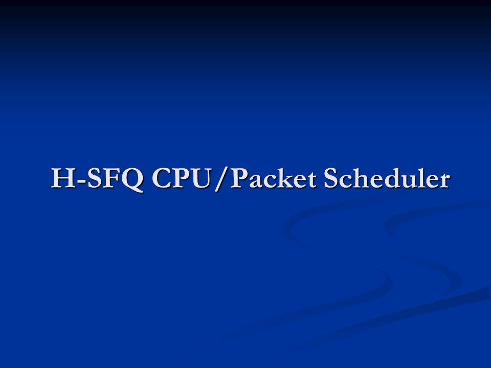 H-SFQ CPU/Packet Scheduler