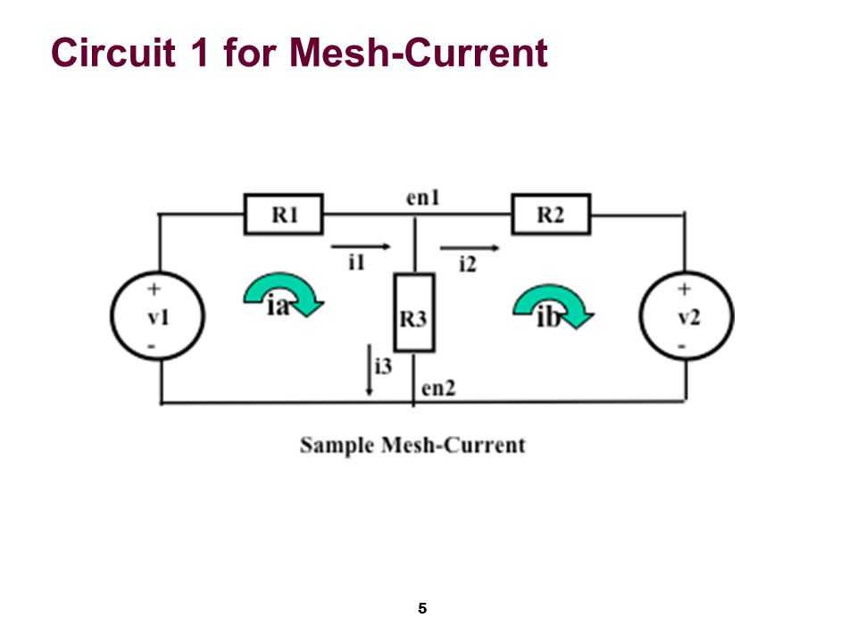 5 Circuit 1 for Mesh-Current