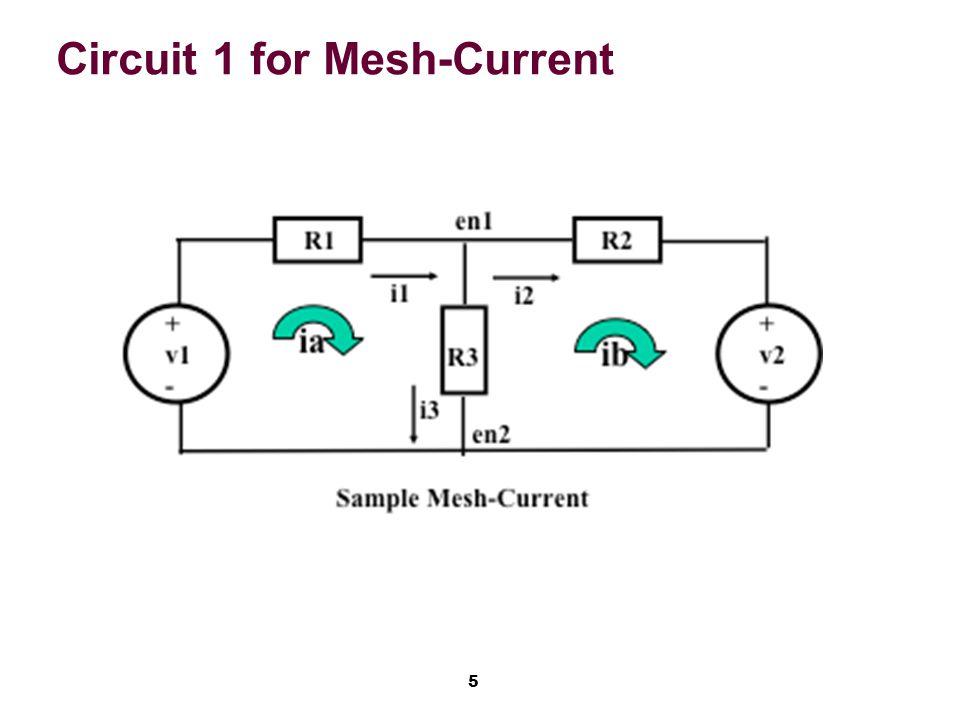 16 Next: Example 4.5 via Mesh-Current
