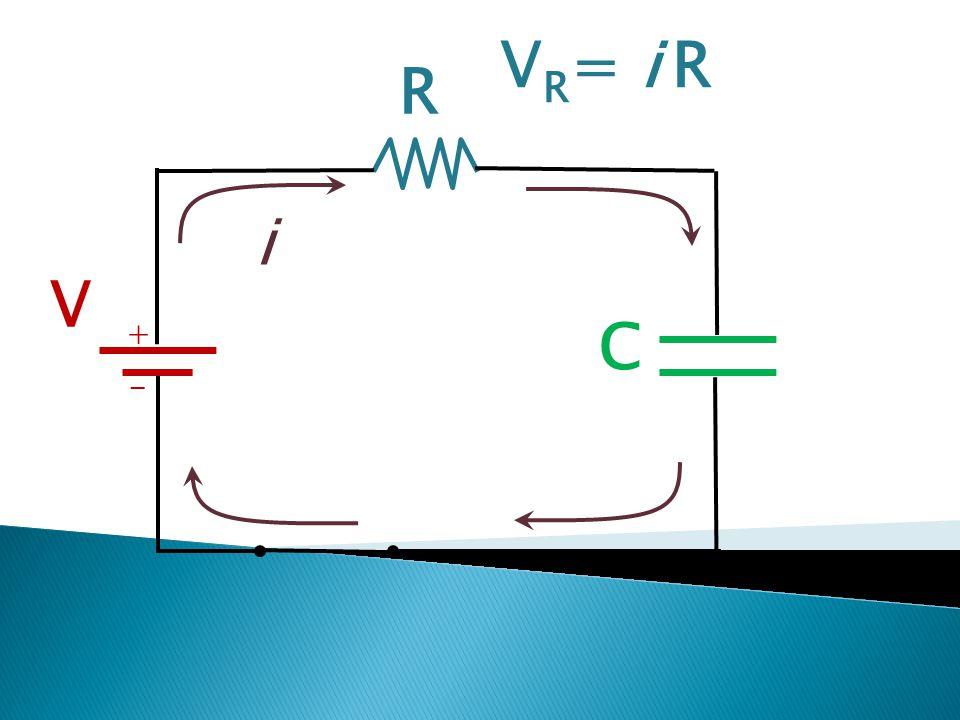 R V C + - i V R = i R