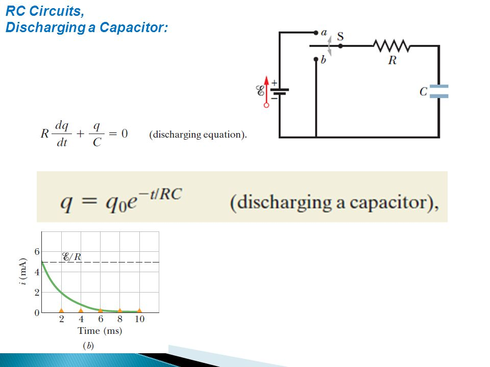 RC Circuits, Discharging a Capacitor: