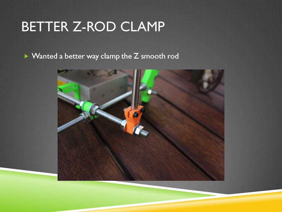 BETTER Z-ROD CLAMP  Wanted a better way clamp the Z smooth rod
