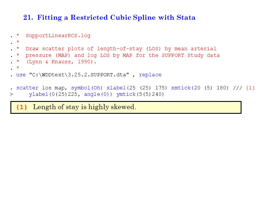 21. Fitting a Restricted Cubic Spline with Stata.