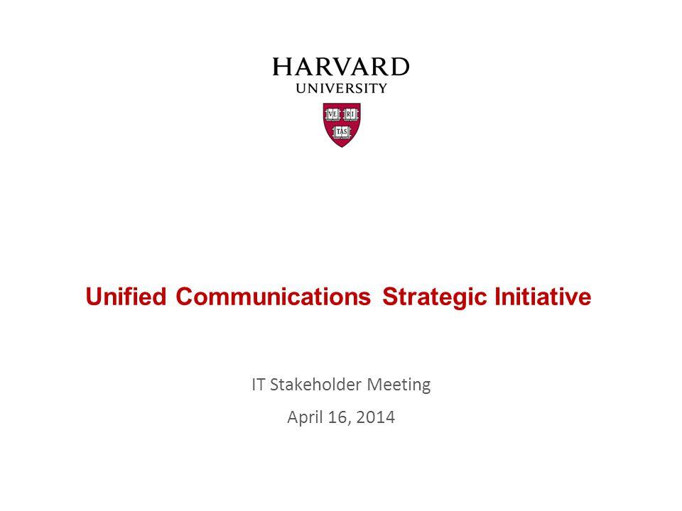 Agenda UC Strategic Initiative - Updates susan_delellis@harvard.edu UC Vendor/Solutions karen_erasmi@harvard.edu UC Vendor Evaluation susan_delellis@harvard.edu Next Steps and Future Meetings 2