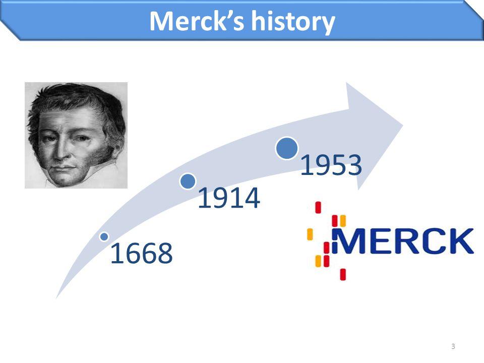 3 Merck's history 1668 1914 1953